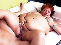 Fat Mature Plays with Her Huge Rack
