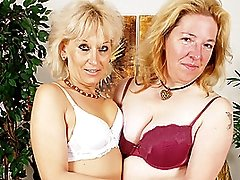Sexy Mature Women Fuck Each Other with a Strap-on!