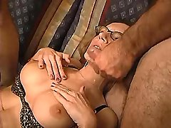 Lewd mature gets fisting and cumshot in crazy orgy