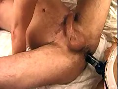 Three aged sluts with strapon dildos screw guy