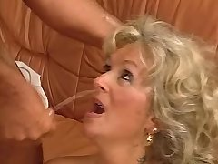 Old lewd mature jumps on big cock and gets facial